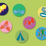 Vegan Kids badges and kits